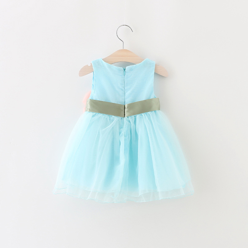 be0aedf8f786 New Baby Girls Dress Toddler bowknot flower Party Clothes size  (0 ...