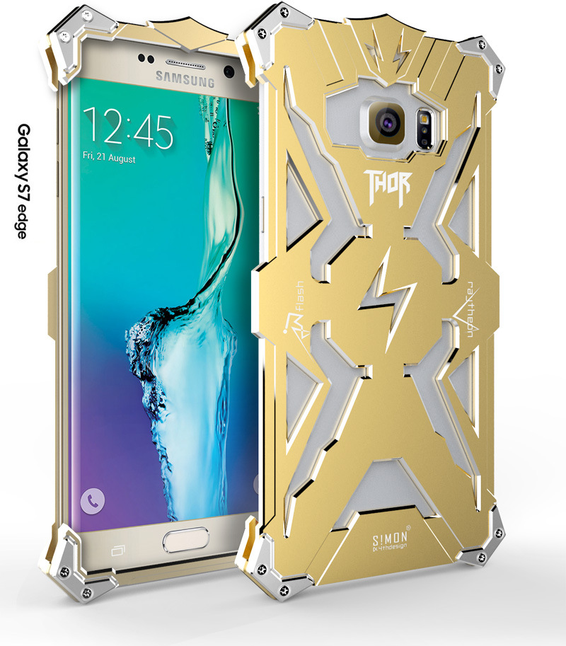 SIMON THOR Aviation Aluminum Alloy Shockproof Armor Metal Case Cover for Samsung Galaxy S7 Edge G9350 & S7 G9300