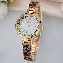 新款手表豹紋時尚商務女時裝手表鑲鉆手鏈女學生合金石英女表1284