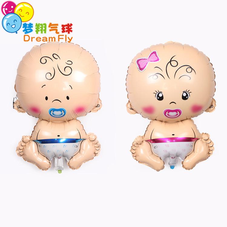 宝宝生日派对装饰气球 卡通婴儿奶嘴周岁气氛布置男宝女宝气球