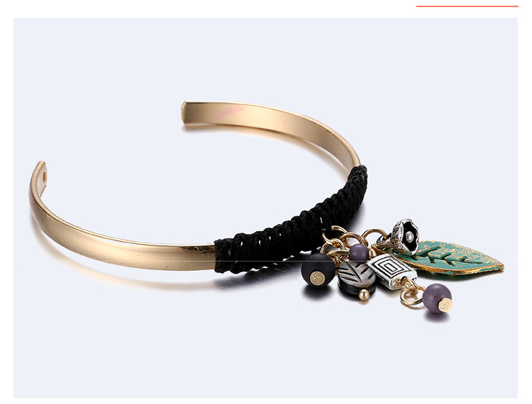 Occident and the United States metal plating bracelet (Golden beige)NHNTF1315-Golden beige