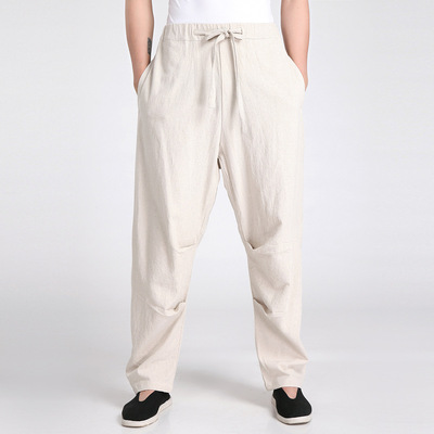 Chinese tang suit pants for male linen Tang for suit men trousers Long Sleeve