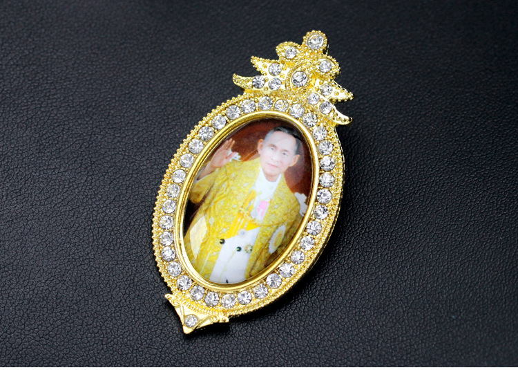 Thailand alloy plating brooch (Gold)NHDR1911-Gold