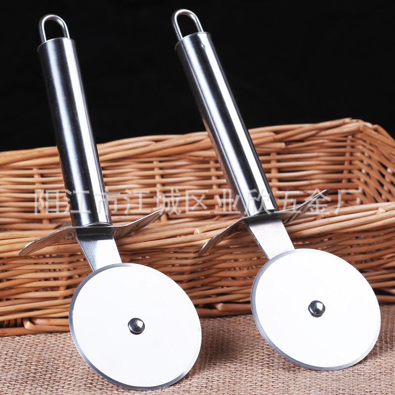 工厂现货PIZZA刀披萨刀烘焙工具介饼器不锈钢轮刀比萨工具