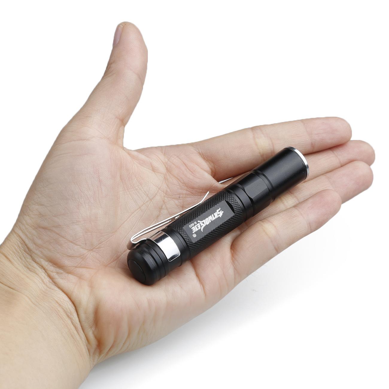 skywolfeye迷你伸缩户外LED强光铝合金手电筒 批发笔夹便携小家电