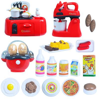Trẻ em chơi đồ chơi bé đồ dùng nhà bếp thiết lập mô phỏng nấu ăn đồ chơi nóng bán buôn câu đố giáo dục sớm