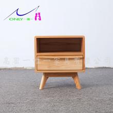 定制加工实木系列一抽床头柜 北欧卧室白橡木床头柜 实木家具批发