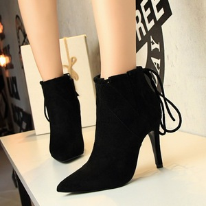 European and American restoring ancient ways high heels suede boots