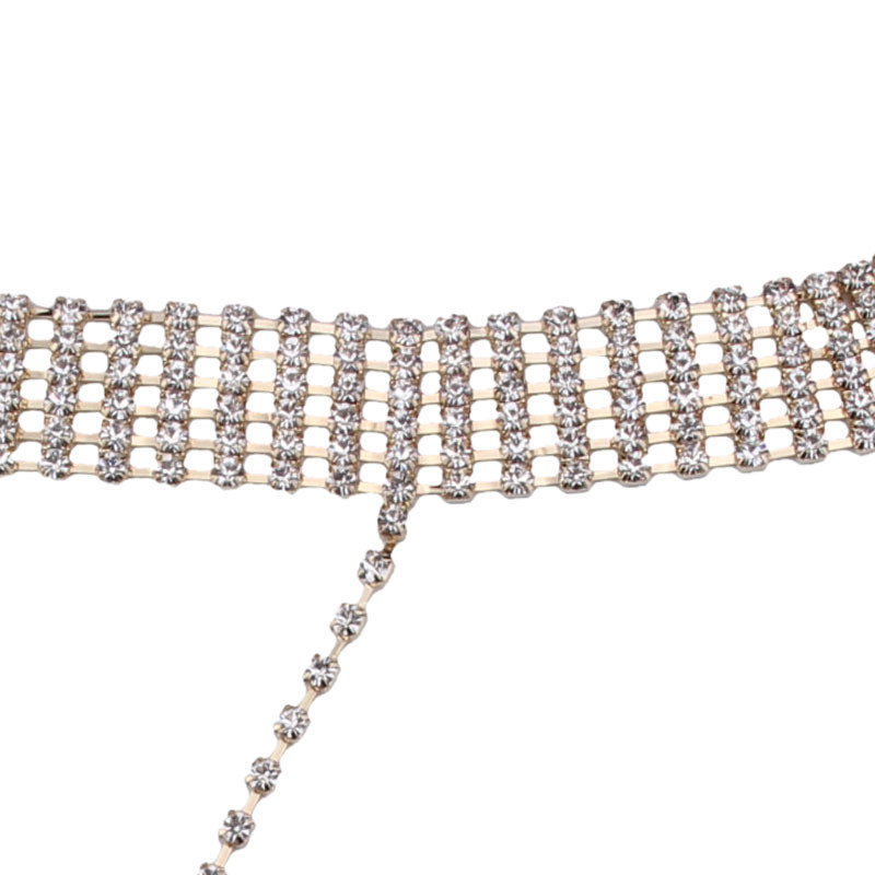 Occident and the United States alloy Rhinestone necklace (Alloy) NHJQ7283