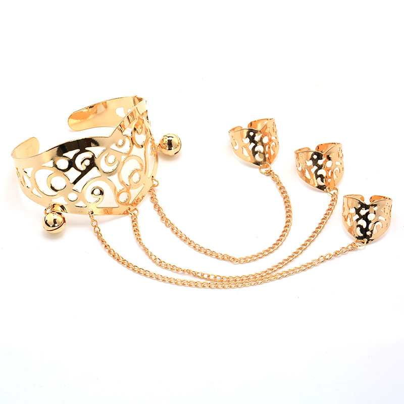 Fashion Alloy plating Ring(Golden)NHGY1500-Golden