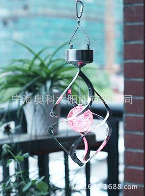 热销 爆款 太阳能风转灯 AK-5053太阳能风铃灯 家用太阳能礼品灯
