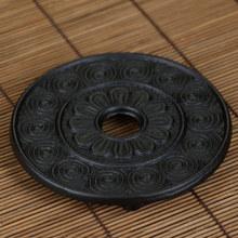 厂家批发茶壶垫铜壶垫铁壶隔热垫日本铸铁壶托葵花壶垫茶道配件
