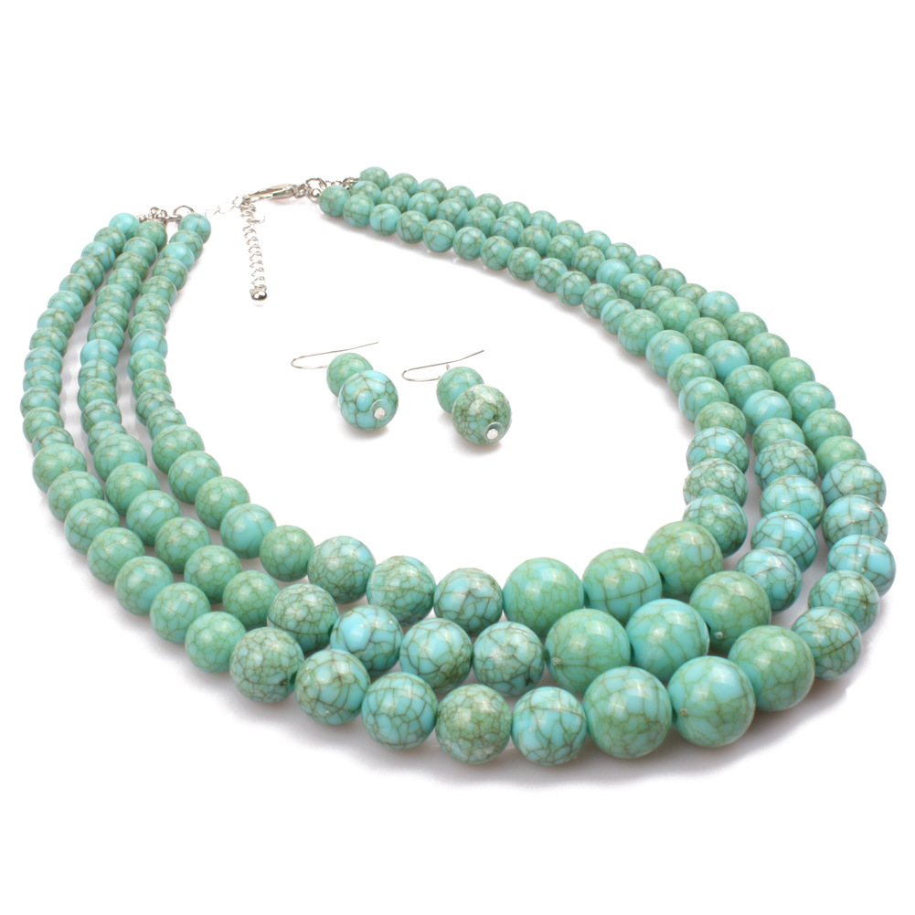 Occident and the United States Resinnecklace (green)NHCT0027-green