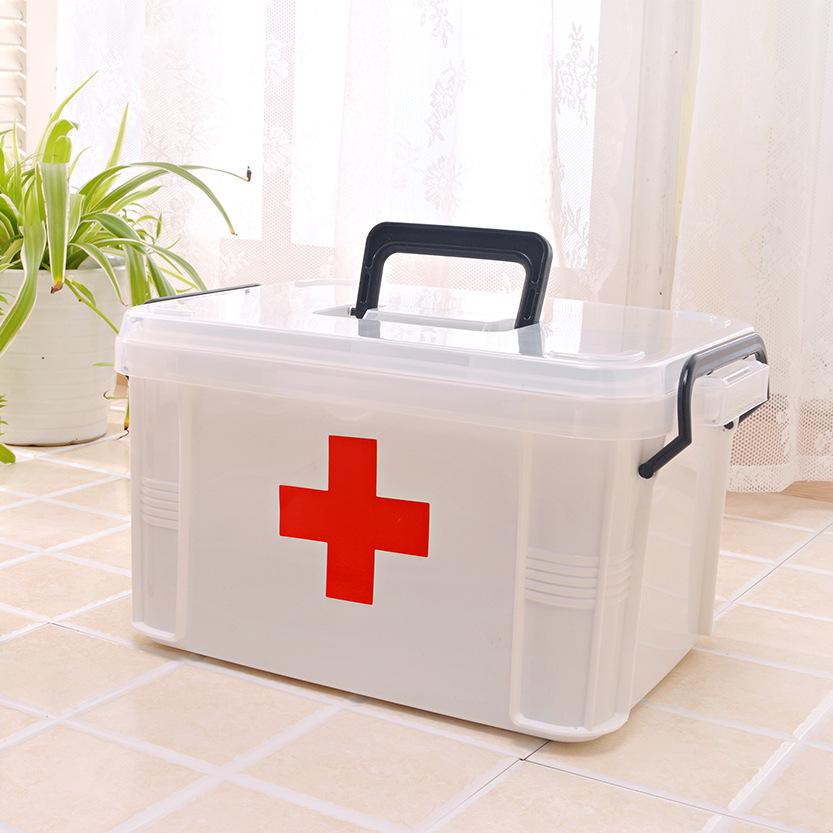 塑料药箱家庭特大号收纳箱家用收纳药盒
