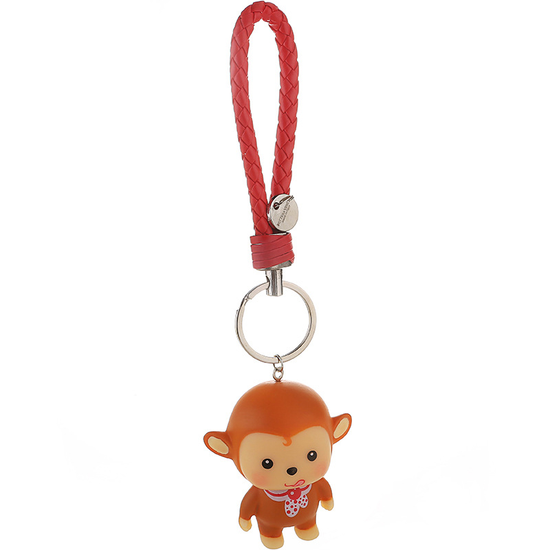 key chain (Black and yellow red fight color rope monkey)NHMM1936-Black and yellow red fight color rope monkey
