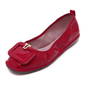 Gommette patent leather ballet shoes