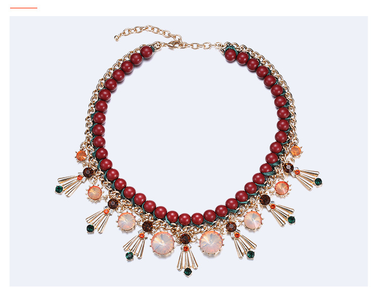 Alloy Fashion Geometric necklace  (Mixed color) NHTF0100-Mixed-color