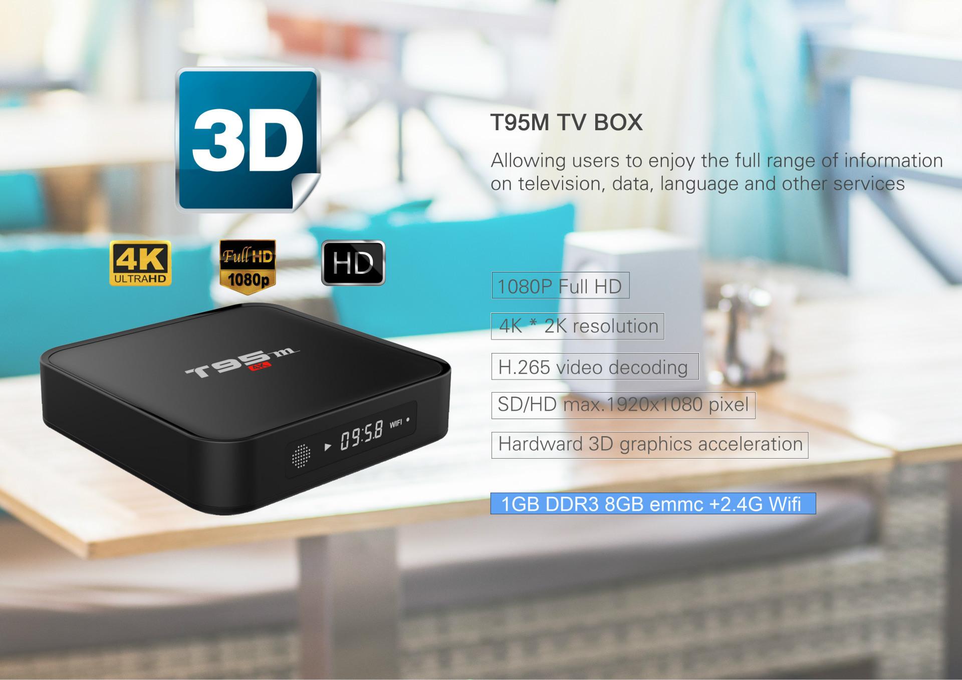 T95m Amlogic S905 Tv Box Media Player Google Android 5.1 1gb 8gb ...