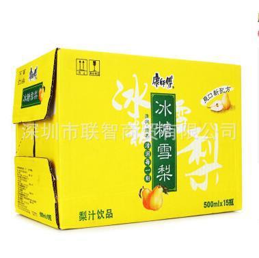 康师傅 冰糖雪梨500ml*15瓶/箱 15箱起限深圳广州珠海包邮