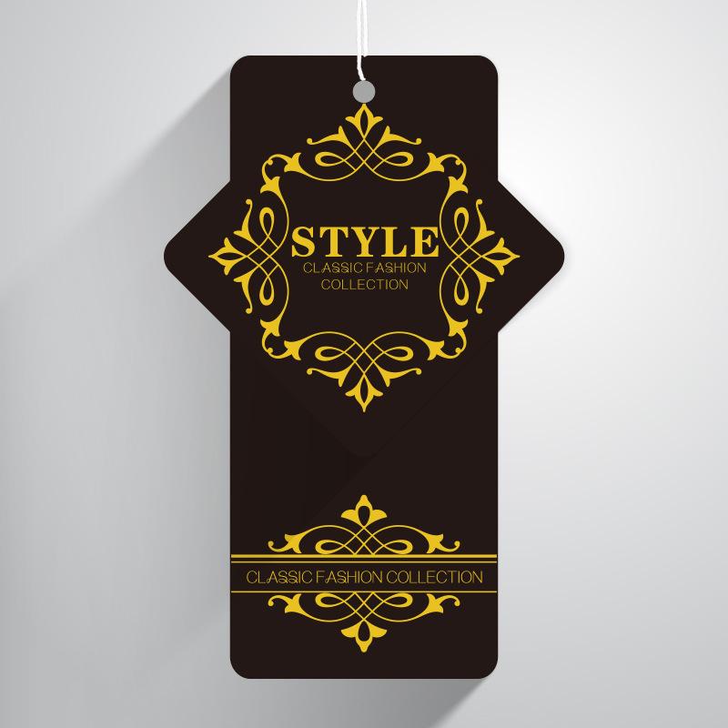 设计印刷标签 服装吊卡订做 PVC吊牌 网纱布吊牌定做 制作商标
