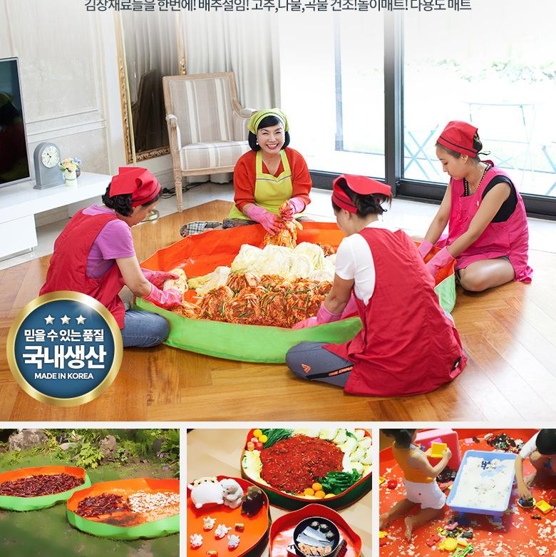 出口韩国泡菜制作搅拌盆 环保篷布泡菜盆食品级泡菜垫子