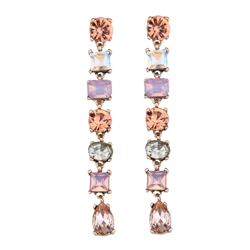 Occident and the United States alloy Rhinestone earring color NHJQ7370