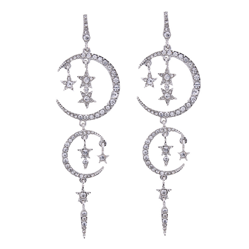Occident alloy Star earring ( white ) NHJQ7019