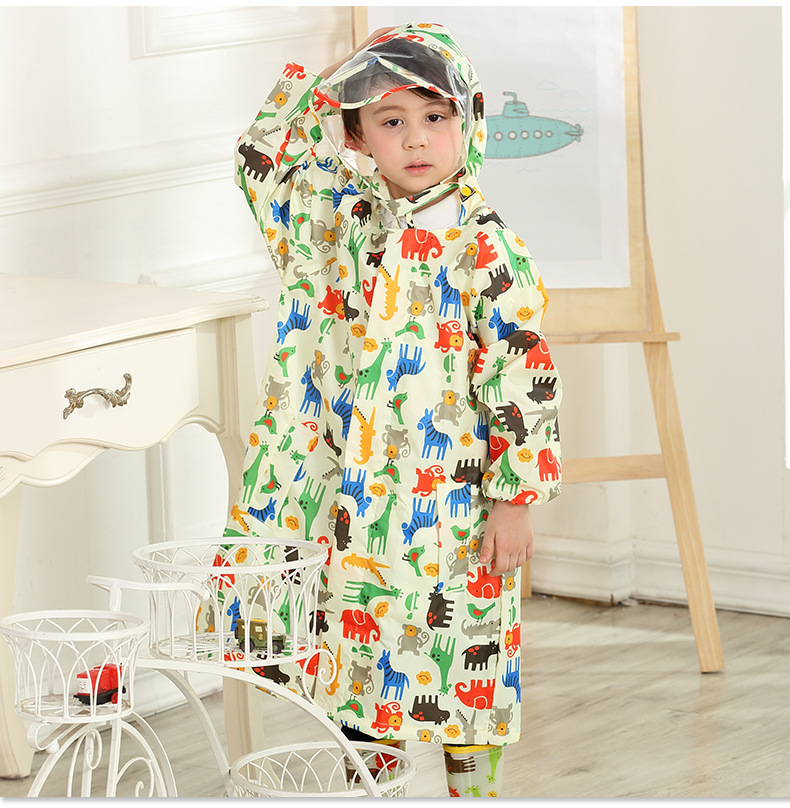 Toddler/Little Kids' cartoon Raincoat for Boys and Girls —— 3 Colors,Hooded,Have set 24