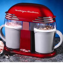 美国Nostalgia 进口家用全自动水果双筒冰淇淋机雪糕机搅拌机