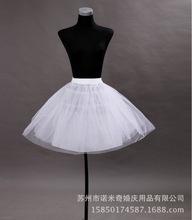 批发外贸短款暴力无骨儿童婚纱礼服裙撑  三层硬纱黑色小孩衬裙