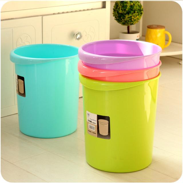 Sáng tạo phòng khách bếp thùng rác văn phòng nhà thùng rác A300 vòng nhựa thùng rác nhà vệ sinh bán buôn Thùng rác