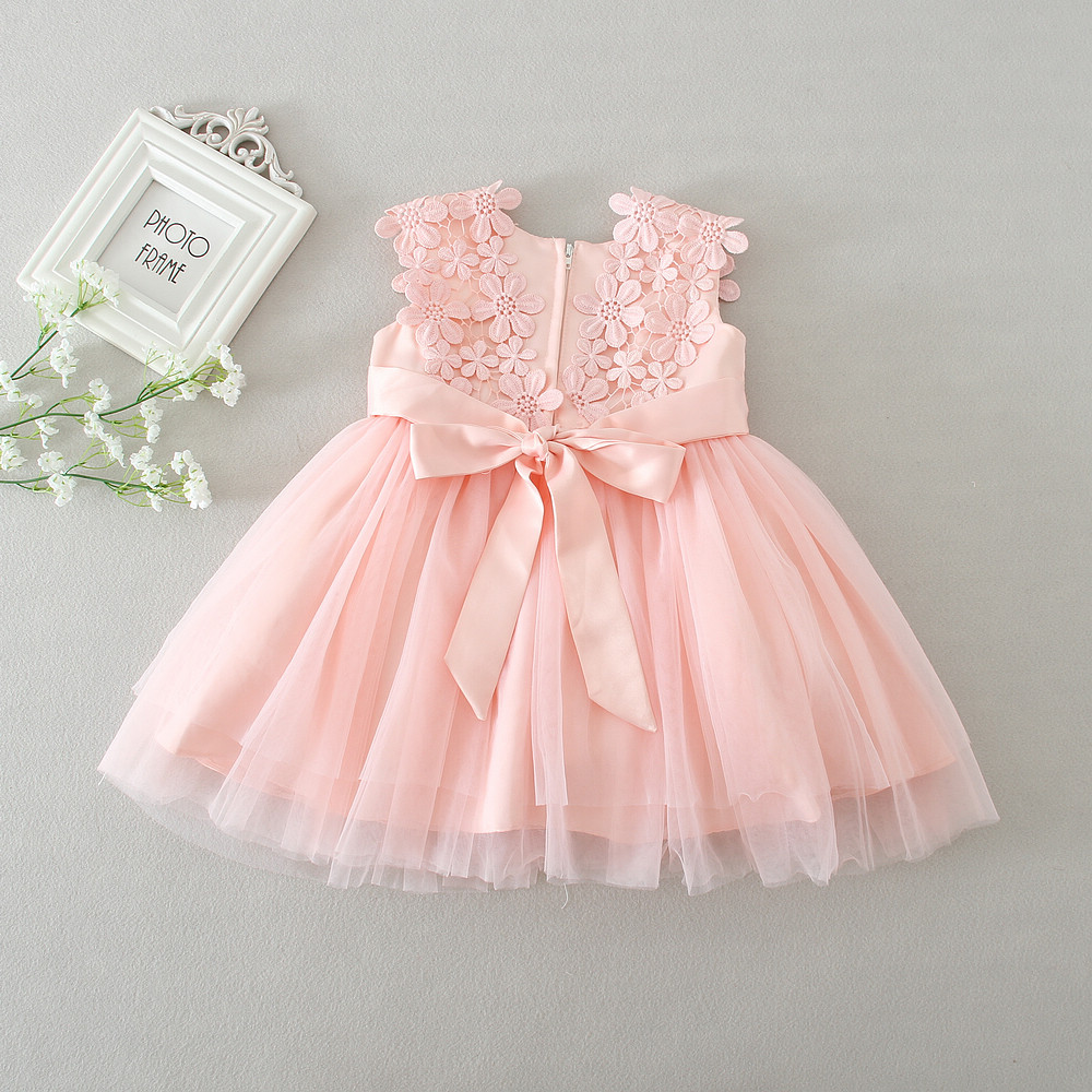 New 1 Year Birthday Dress Pink Color Ball Gown Party Dresses Baby ...
