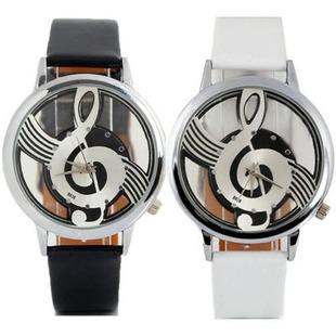 Manufacturers selling music ladies watches fashion creative note watches men and women student couple belt watches wholesale