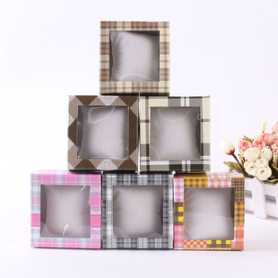 Open skylight jewelry box creative square jewelry box gift packaging box Taobao hot sale jewelry packaging carton wholesale
