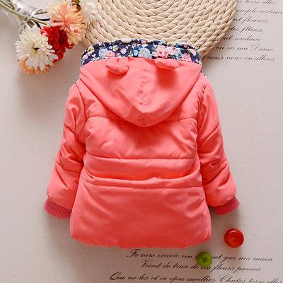 18 quần áo mùa đông cô gái bán buôn 1-4 năm cộng với nhung dày hoa Mickey áo khoác áo khoác ấm nhà sản xuất bán buôn