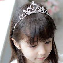 2017爆款韩版儿童皇冠发箍 新娘公主头箍发饰 儿童水钻皇冠批发