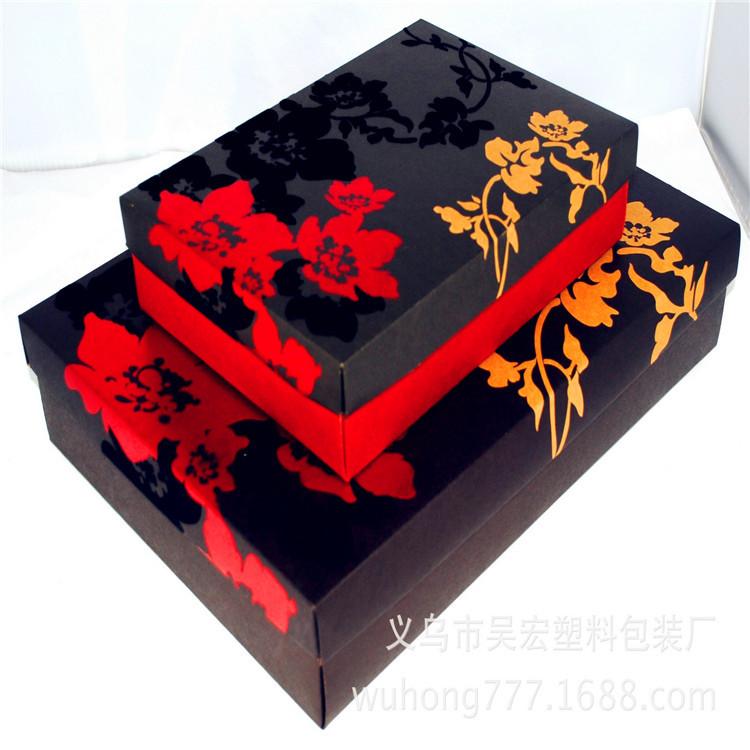 白卡纸盒牛皮包装盒现货 服装饰品盒手提礼品包装盒饰品礼盒定做