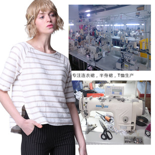 Mid-to-high-end tops, short-sleeved T-shirts, knitted women's clothing, production and processing, labor and materials customization, Taobao small order