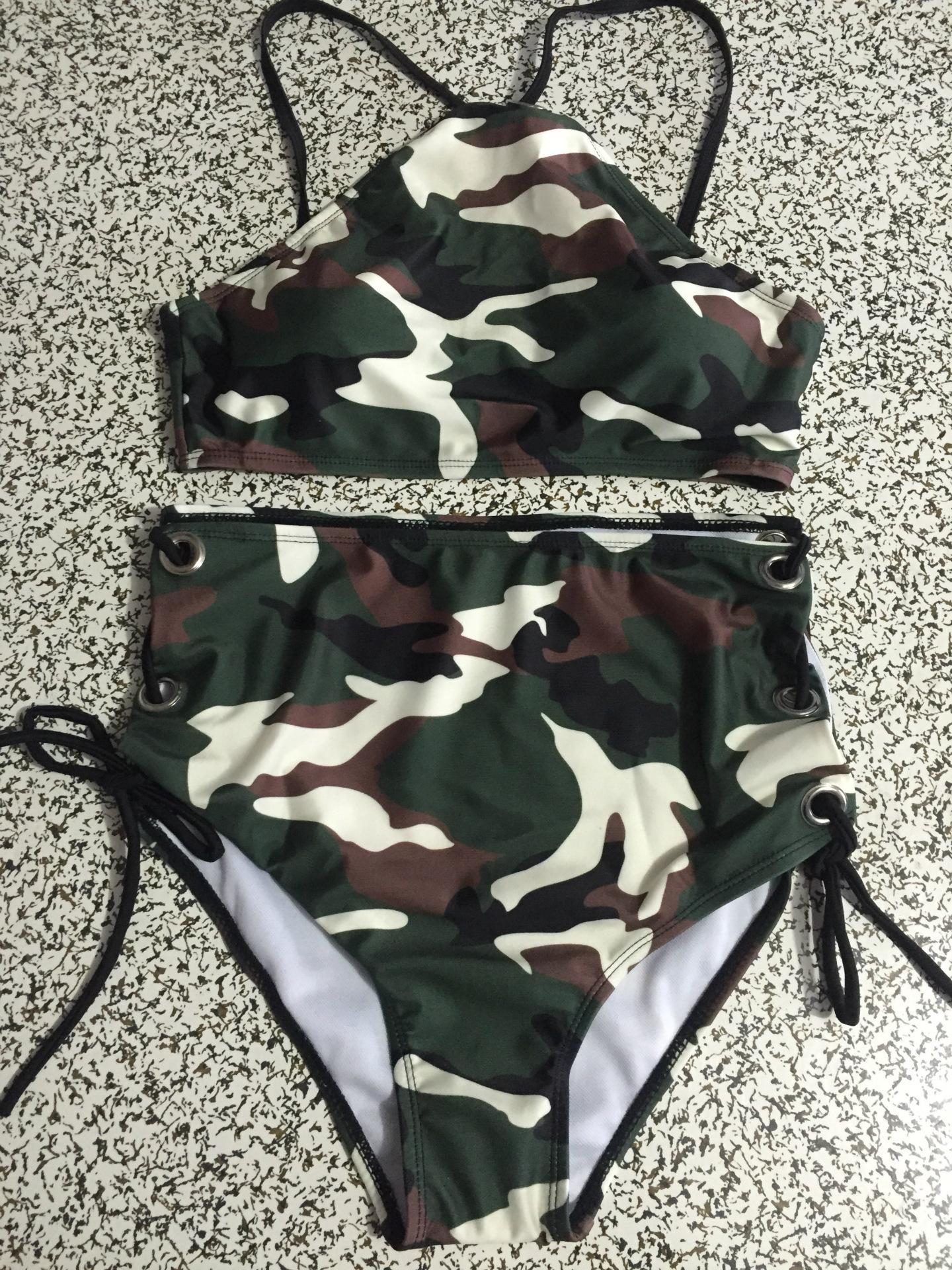 Mesh lace ruffled high waist bikini sexy bikini lady swimwear NHHL203336