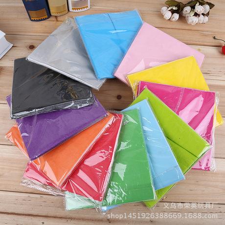 派对单色印刷卫生纸彩色一次性餐巾纸环保纯木浆纸巾外贸批发