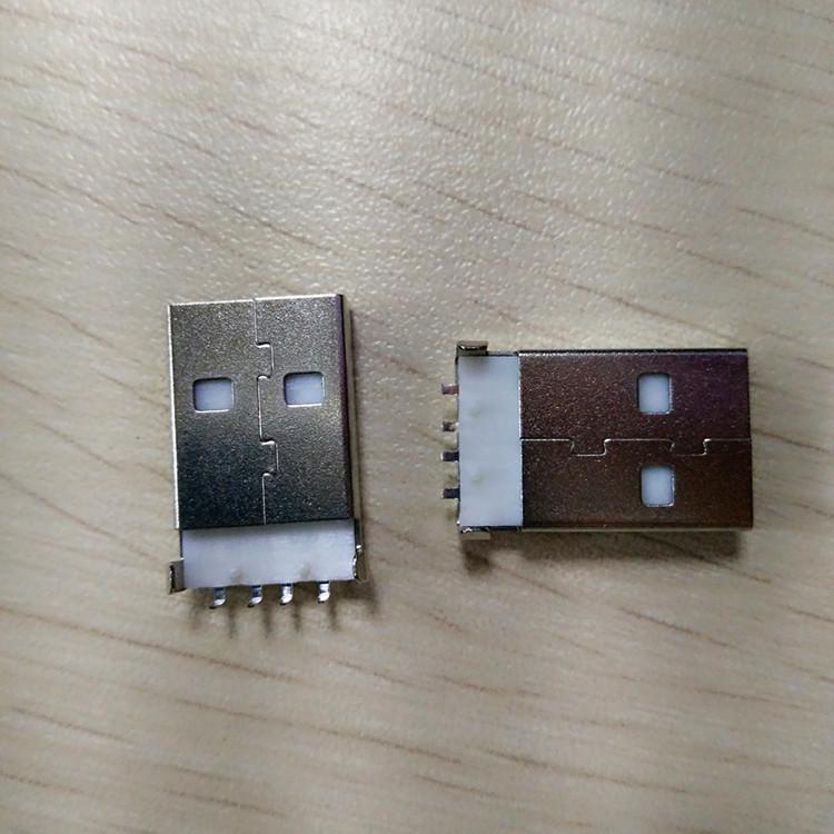 USBAM90度插板公头 USB插件公座 U盘公头