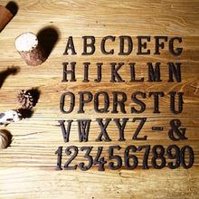 ZAKKA雜貨鐵藝裝飾品 鑄鐵金屬數字 字母 創意DIY門牌 字母符號