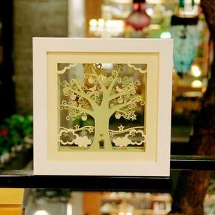 Lễ sáng tạo quà tặng mới doanh nghiệp quà tặng thủ công tùy chỉnh giấy ba chiều khắc ảnh khung cắt giấy trang trí Eden