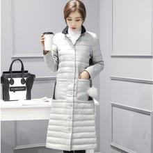 2018冬装韩版?#21487;?#22899;士中长款羽绒服女装时尚轻薄羽绒衣外套