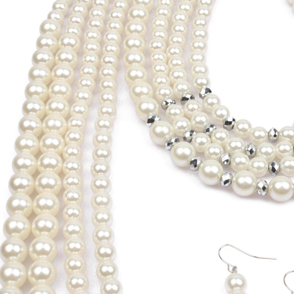 Occident and the United States Resinnecklace (creamy-white)NHCT0018-creamy-white