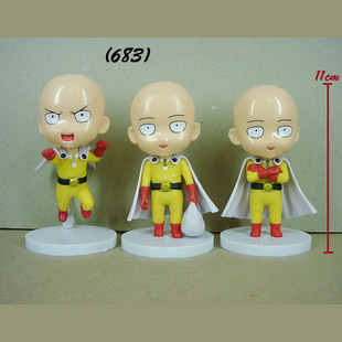 Foreign trade show one punch superman 1 generation 3 styles a set of bag dolls hand-made one blow light animation cartoon ornaments