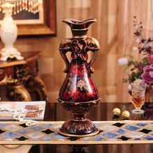 厂家批发 欧式花瓶树脂摆件 北欧创意家居客厅中式工艺装饰礼品