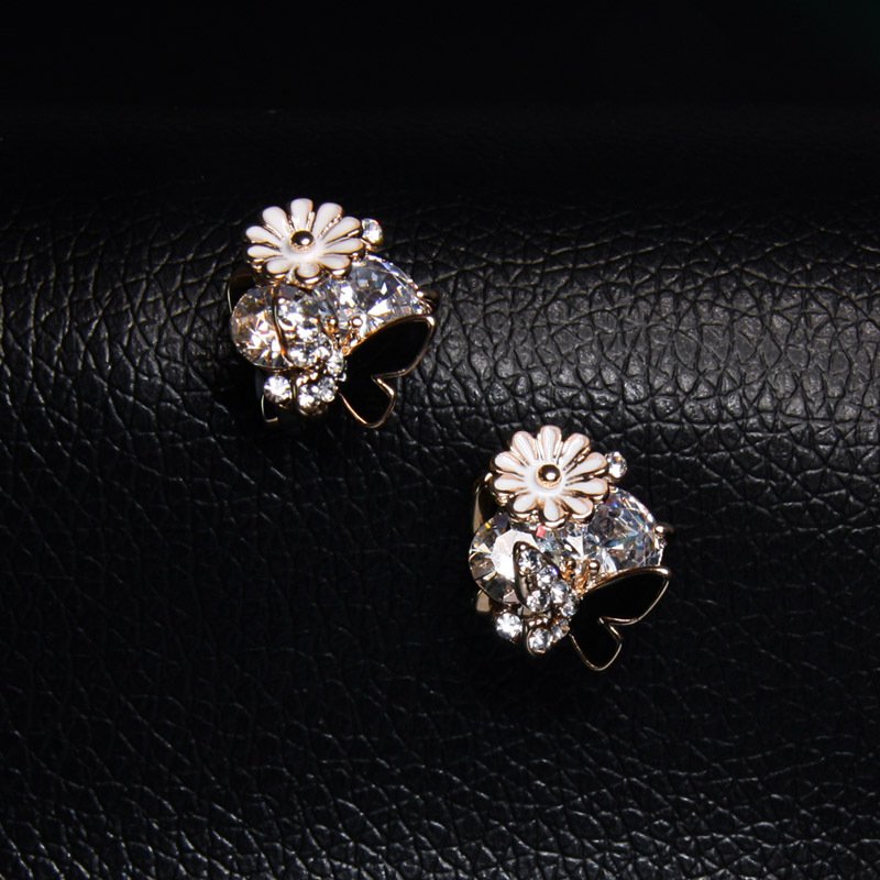 Alloy Korea Flowers earring  (Alloy)  Fashion Jewelry NHAS0411-Alloy