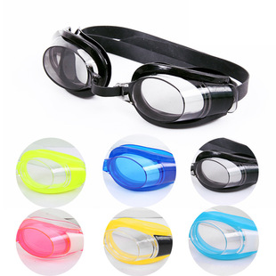 Factory stock wholesale HD flat light big frame waterproof and anti-fog swimming goggles unisex swimming goggles