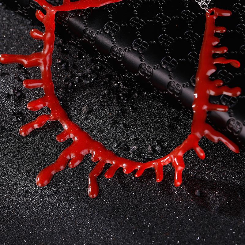Halloween Creative Bloody Cut Bloodstain Necklace Wholesale Nihaojewelry  NHMO419394